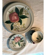 Redwing Pottery Normandy 4 pc Place Setting Dinner Plate Cup Saucer Brea... - $23.99
