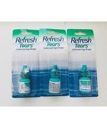 3x Refresh Tears Lubricant Eye Drops 3ml - New, - $10.88