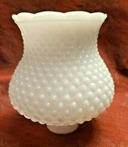 "Vintage 5-1/4"" Deep White Milk Glass Hobnail Lamp Shade Globe 1-5/8'' Fitter  image 9"