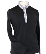 Stylish Women's Golf & Resort Black Long Sleeve Collar Top, Swarovski Bu... - $29.95