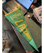 Laconia Spartans Wisconsin high school felt Vintage Pennant 29 x 11.5 gr... - $24.99