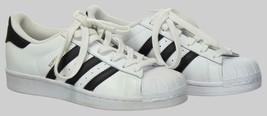 Adidas Big Kids' Unisex Originals Superstar Sneakers Size 4.5 C77154 White/Black - $55.19