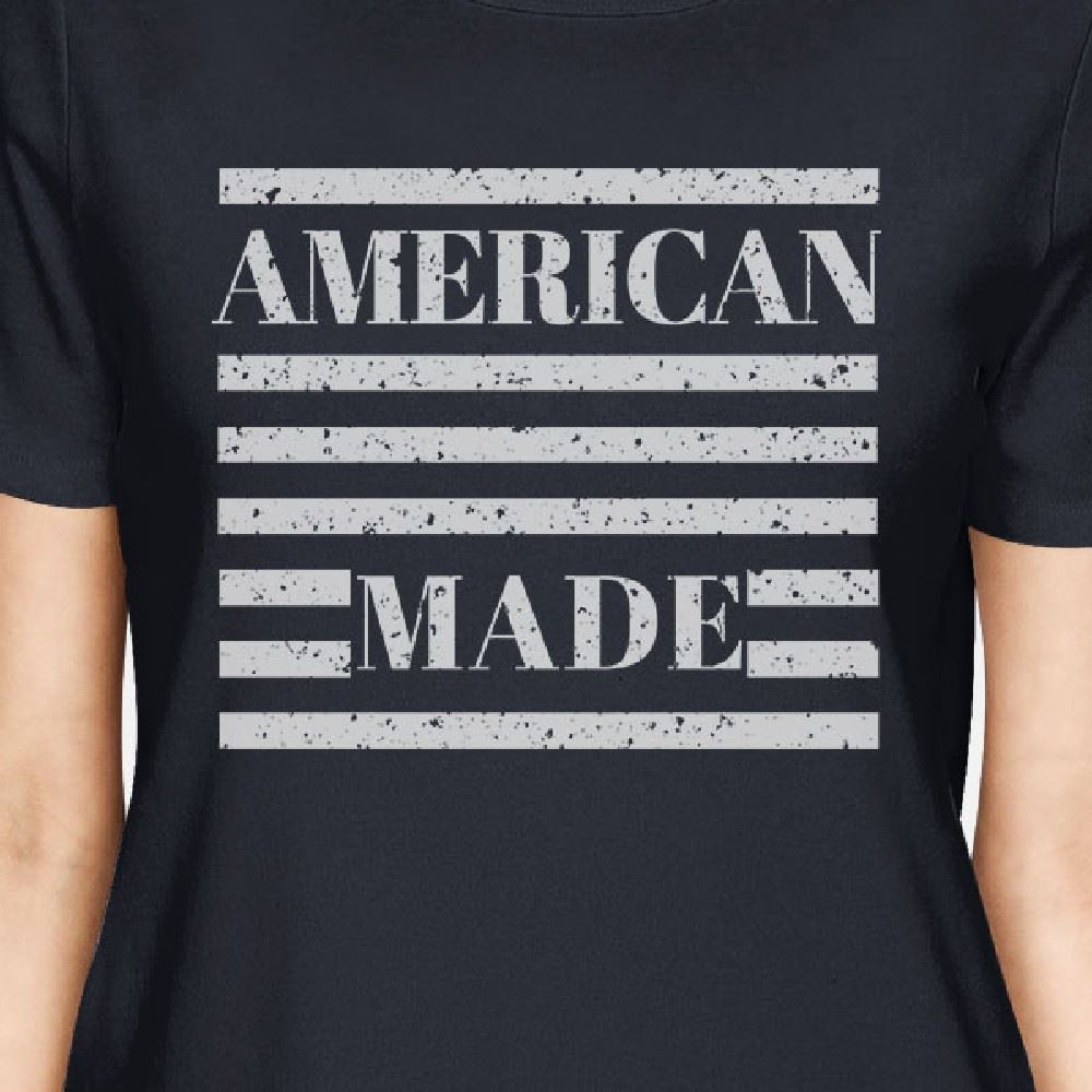 American Made Womens Navy Short Sleeve T-Shirt For Fourth of July image 2