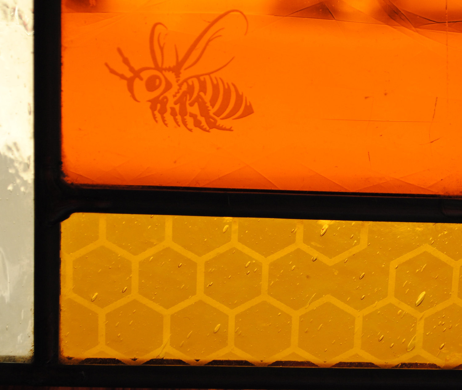 Stained Glass Window Panel  - Sweet Summer Bees