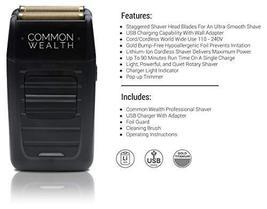 Common Wealth Professional Shaver Cordless Hypoallergenic Bump Free Gold Pro Foi image 2
