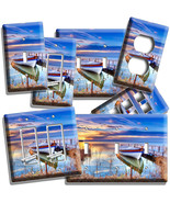 BOAT ON THE LAKE AT TWILIGHT LIGHT SWITCH OUTLET WALL PLATE COVER DREAMY... - $8.99+