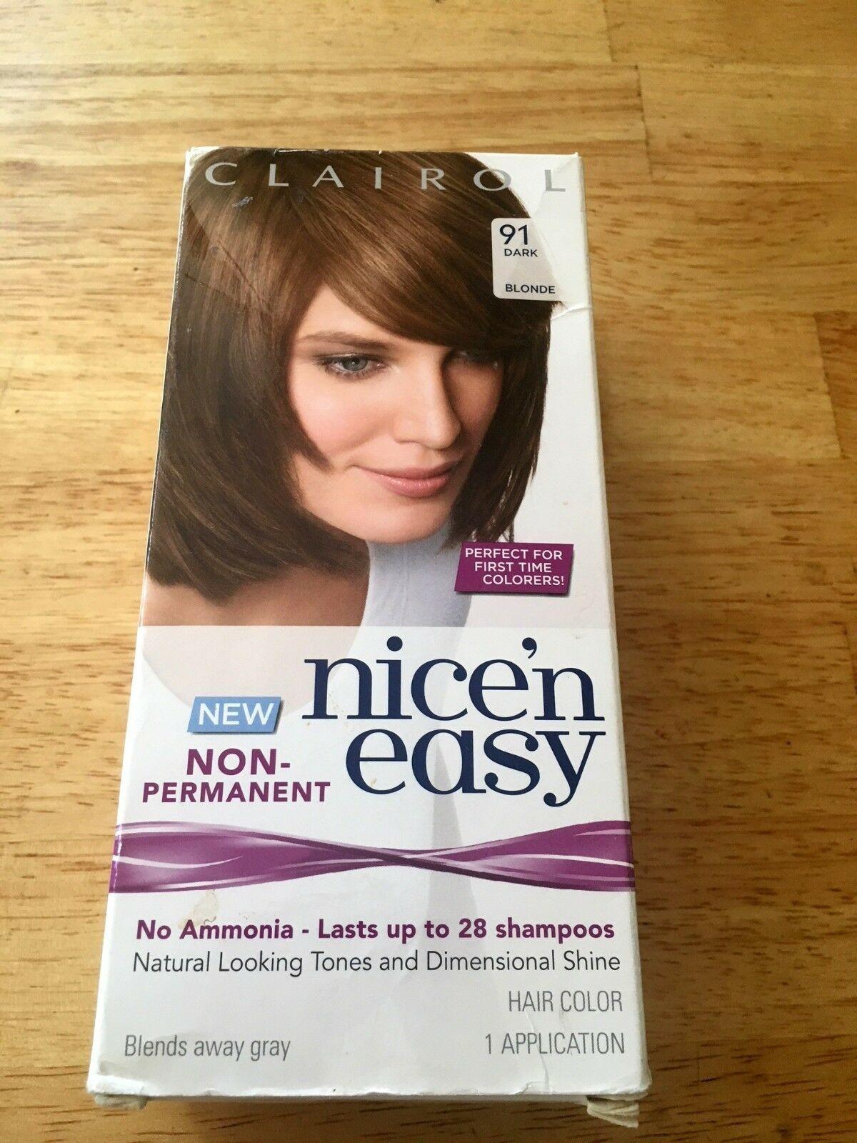 Clairol Nice 'N Easy Non-Permanent Hair Color 91 Dark Blonde