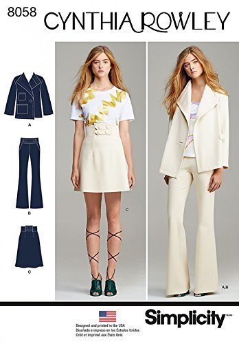 Simplicity Ladies Sewing Pattern 8058 Jacket, Skirt & Trouser Suit image 1