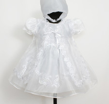 New Baby Christening Gown,Cape,Bonnet Newborn t... - $32.58