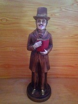 Vintage R B Figurine Japan Male Christmas Caroler w/ Top Hat - $14.95