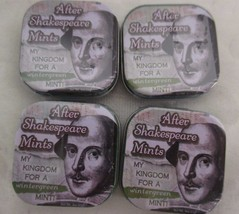 The Unemployed Philosophers Guild Lot Of 4 Tins Off Mints After Shakespeare - $14.84