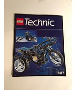 Lego Technic Manual 8417 Only Ships USA Paperback Motorcycle B5842 - $12.25