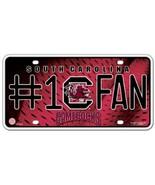 NCAA South Carolina Gamecocks #1 Fan Metal Auto Tag - $7.98