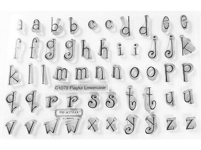 """Close to My Heart """"Playful Lowercase"""" Clear Cling Acrylic Stamp Set #C1079"""