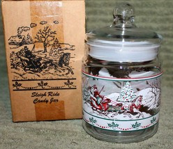 Vintage? Home Interiors  *SLEIGH RIDE CANDY JAR*  NIB - $12.34