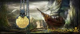 """Peru """"Skull Pendant"""" Lima 1710 8 Escudos Gold Pltd. Doubloon Treasure Cob Coin - $995.00"""