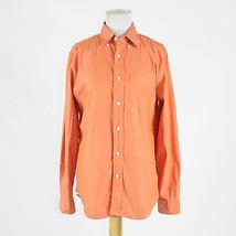 Orange 100% cotton GAP long sleeve classic fit button down shirt S - $19.99