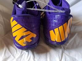 Mens Nike Cleats Superbad Pro Lunarlon Football Purple Black Size 15 New - $24.99