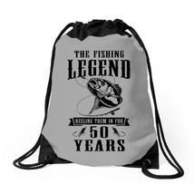 The Fishing Legend Reeling Them In For 50 Years Drawstring Bags - $30.00