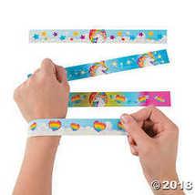 Fun Express Unicorn Metal Slap Bracelets - 12 Pieces - $7.74