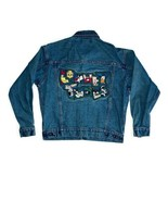 Looney Tunes Jean Jacket Mens Medium Warner Bros Studio Store Denim Blue... - $46.74
