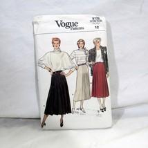 Vogue Sewing Pattern Misses Skirt Size 12 Flared Skirt Uncut FF Pleat Va... - $12.99