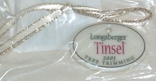 Longaberger Tree Trimming Tinsel Basket Tie On Only New In Bag Christmas