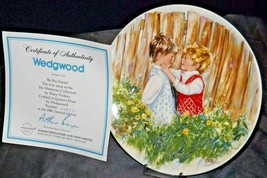 """1981 """"Be My Friend""""   Wedgewood by Mary Vickers AA20-2301 Vintage Commemorative  image 2"""
