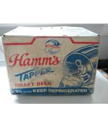 Hamms Tapper Keg in carrying box, cardboard, Reynolds Aluminum, advertis... - $163.88