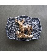Men Buckle Original Deer Western Belt Buckle Gürtelschnalle Boucle de ce... - $9.89