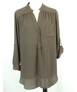 PLEIONE Georgette Blouse Size M Thigh Length Tunic * - $29.99