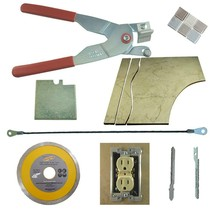 Tile & Glass Cutter Kit Red Curve Notch Cutouts Jigsaws Rodsaw Grinder B... - $55.17