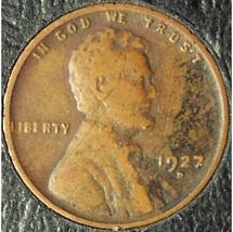 1927-D Lincoln Wheat Cent VG #0696 - $1.39