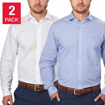 Tommy Hilfiger Men's Regular Fit Dress Shirt 2-Pack - $27.99