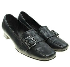 Rockport Sole Innovation Womens Sz 8.5 Black Leather Slip-ons Loafers Flats - $26.72
