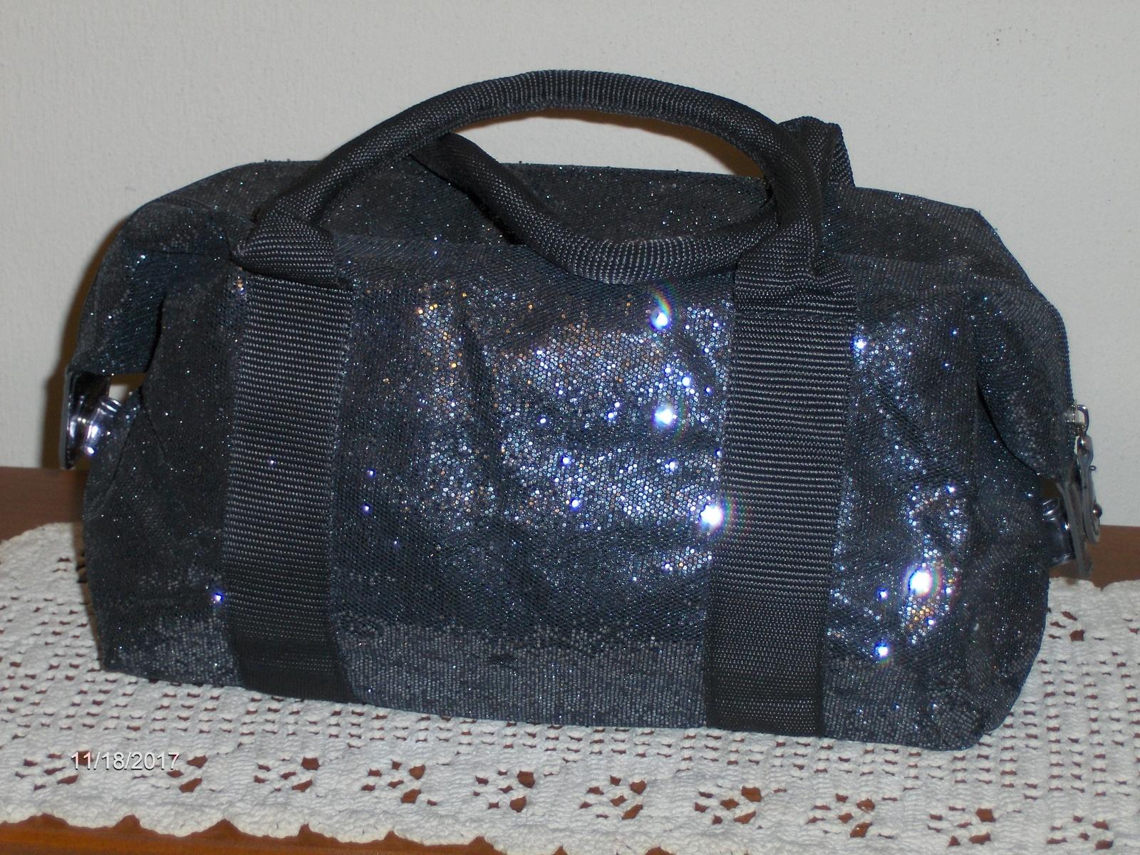 ... Victoria s Secret Satchel Metallic Silver Sparkle Purse Tote Handbag  Cosmetic ... 5b51b2a7fb
