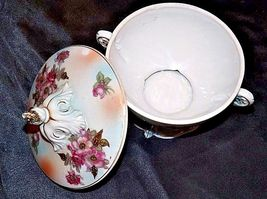 Footed Floral Bowl with Lid AA18-1353 Vintage 7343E image 3