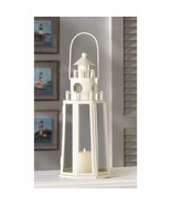 Contemporary Ivory Finish Lighthouse Candle Lantern Wedding Centerpieces - $15.47