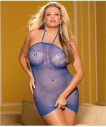 SHIRLEY OF HOLYWOOD Royal Micro Chemise, US One Size Fits Most, NWOT - $8.91