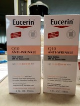 Eucerin Q10 Anti-Wrinkle Sensitive Skin Lotion Spf 15, 4 Ounce (Pack Of 2) - $24.74