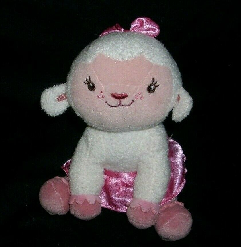 "8"" DISNEY LAMBIE DOC MCSTUFFINS WHITE BABY LAMB STUFFED ANIMAL PLUSH TOY DOLL"