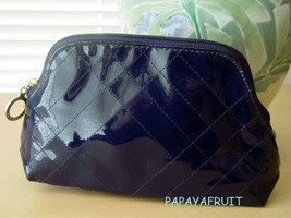 Estee Lauder Blue Patent CrissCross Cosmetic Bag - $8.90