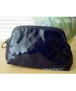 Estee Lauder Blue Patent CrissCross Cosmetic Bag - $8.90