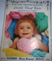 Lovable Hand Knits Infants to 4 Years Vol 30 Fleisher Bear Brand Botany ... - $4.99