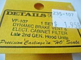 Details West # VF-107 Dynamic Brake Vent & Elect Cabinet Filter HO-Scale image 2