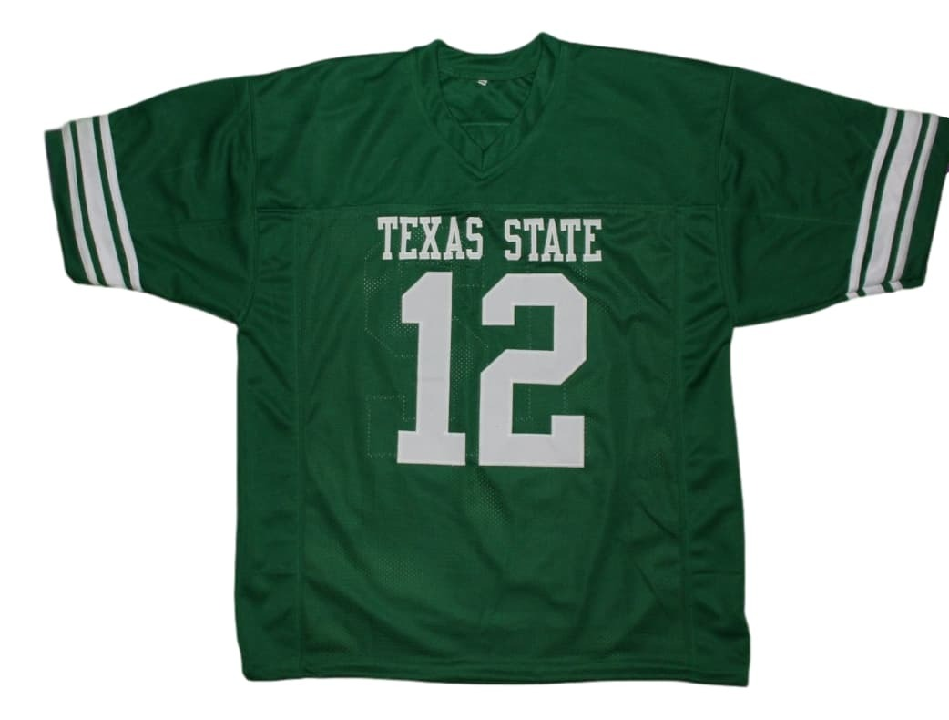 Blake #12 Necessary Roughness Texas State New Men Football Jersey Green Any Size