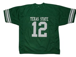 Blake #12 Necessary Roughness Texas State New Men Football Jersey Green Any Size image 1