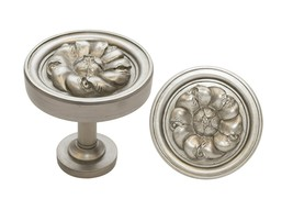 Urbanest Set of 2 Large Petros Drapery Medallion Holdback, English Pewter - $33.65