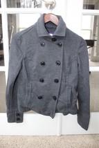 AEROPOSTALE Women Solid Fleece Peacoat Pea Coat Jacket M - $24.99