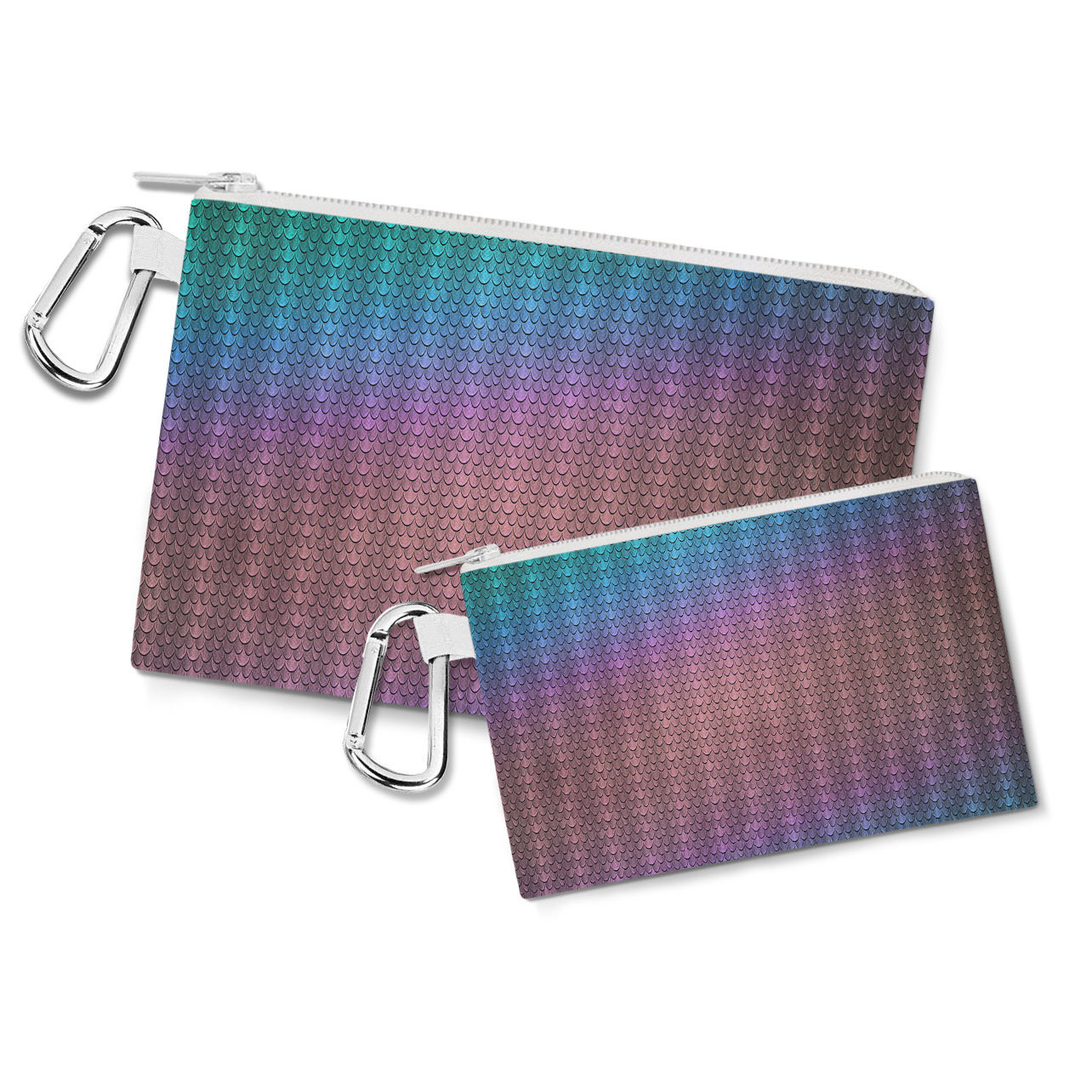 Iridescent Dragon Scales Canvas Zip Pouch